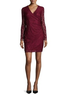 Laundry by Shelli Segal Long-Sleeve Fitted Lace Dress