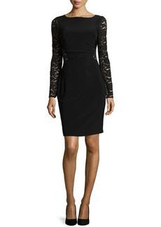 Laundry by Shelli Segal Long-Sleeve Lace Cutout Dress, Black