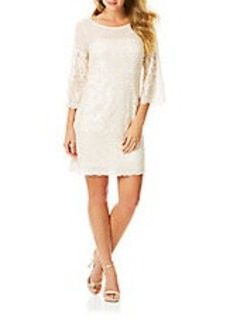 LAUNDRY BY SHELLI SEGAL Long Sleeve Lace Shift