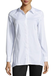 Laundry by Shelli Segal Long-Sleeve Tailored Poplin Shirt