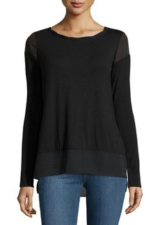 Laundry by Shelli Segal Long-Sleeve Twisted-Trim Top