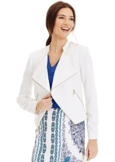 Laundry by Shelli Segal Long-Sleeve Zip-Front Blazer
