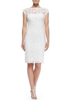 Laundry by Shelli Segal Low-Back Embroidered Lace Dress