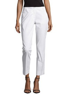 Laundry by Shelli Segal Low-Rise Slim-Leg Pants, Optic White