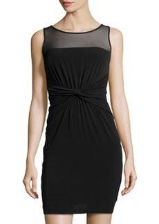 Laundry by Shelli Segal Matte Jersey Knit Dress, Black