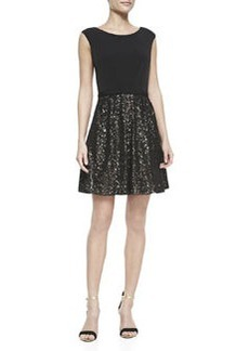 Laundry by Shelli Segal Matte Jersey Top & Sequined Skirt Dress