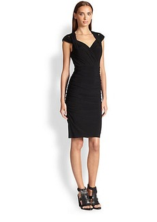 Laundry by Shelli Segal Matte Jersey Twist-Strap Dress
