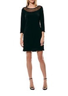LAUNDRY BY SHELLI SEGAL Mesh-Accented Shift Dress