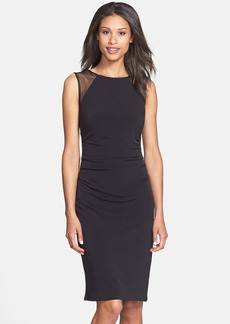 Laundry by Shelli Segal Mesh Detail Jersey Dress