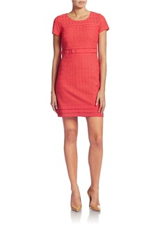 LAUNDRY BY SHELLI SEGAL Mesh-Trim Shift Dress