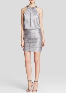 Laundry by Shelli Segal Metallic Blouson Dress