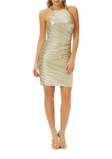 LAUNDRY BY SHELLI SEGAL Metallic Bodycon Dress