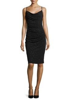 Laundry by Shelli Segal Metallic Caviar Dress, Black