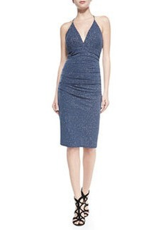 Laundry by Shelli Segal Metallic-Flecked Dress W/ Bar Back