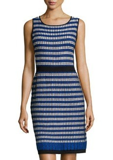 Laundry by Shelli Segal Metallic-Knit Sleeveless Sweaterdress, Blue Beret Multi