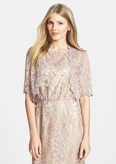 Laundry by Shelli Segal Metallic Lace Bolero
