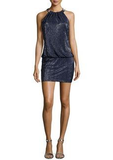 Laundry by Shelli Segal Metallic Mini Dress, Dark Midnight