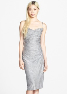 Laundry by Shelli Segal Metallic Shirred Dress
