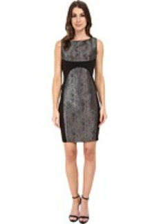 Laundry by Shelli Segal Metallic Snake and Ponte Dress