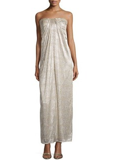 Laundry by Shelli Segal Metallic Sweetheart Gown