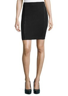 Laundry by Shelli Segal Mixed-Fabric Paneled Pencil Skirt, Black