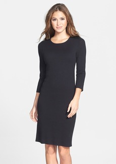 Laundry by Shelli Segal Mixed Media Sweater Dress