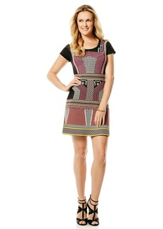 Laundry by Shelli Segal Mixed Pattern Sheath Dress