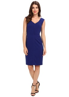Laundry by Shelli Segal Modern Seamed Crepe Dress