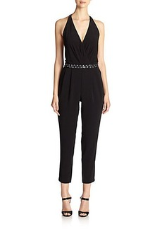 Laundry by Shelli Segal Montreal Embellished T-Back Jumpsuit