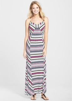 Laundry by Shelli Segal Multi Stripe Jersey Maxi Dress