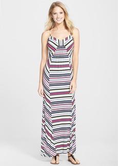 Laundry by Shelli Segal Multi Stripe Jersey Maxi Dress