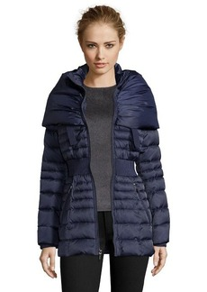Laundry by Shelli Segal mystic blue quilted pillow collar down jacket