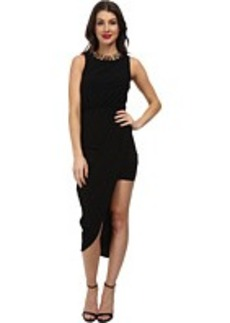 Laundry by Shelli Segal Necklace Dress with Asymmetric Hem
