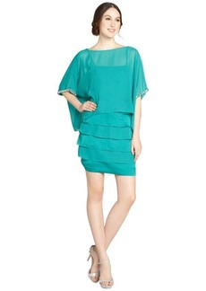 Laundry by Shelli Segal ocean breeze oversized top tiered bottom dress