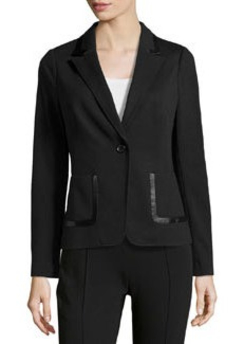 Laundry by Shelli Segal One-Button Knit Jacket, Black