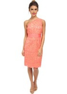 Laundry by Shelli Segal One Should Lace Dress with Grograin At Waist