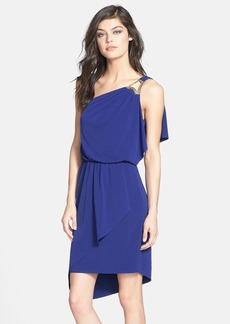 Laundry by Shelli Segal One Shoulder Blouson Dress