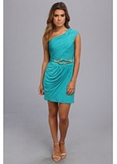 Laundry by Shelli Segal One Shoulder Dress w/ Metallic Belt