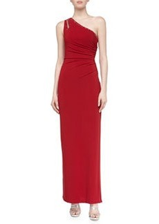 Laundry by Shelli Segal One-Shoulder Jersey Gown, Berry