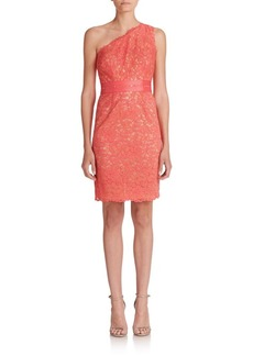 Laundry by Shelli Segal One-Shoulder Lace Dress