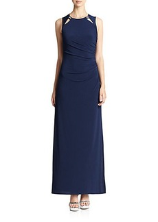Laundry by Shelli Segal Open Back Embellished Jersey Gown