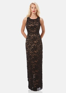 Laundry by Shelli Segal Open Back Lace Gown