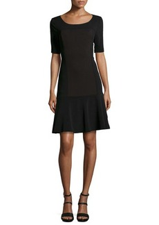 Laundry by Shelli Segal Ottoman Knit Dress with Dropped Waist