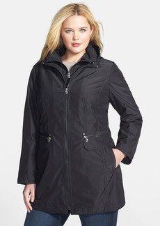 Laundry by Shelli Segal Packable Coat with Removable Hooded Bib (Plus Size)