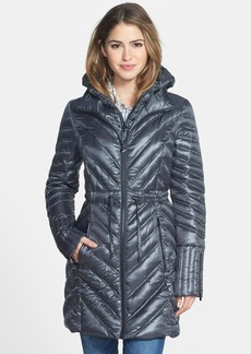 Laundry by Shelli Segal Packable Down Anorak with Hooded Bib Inset
