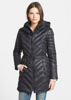 Laundry by Shelli Segal Packable Hooded Down Walking Coat