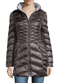 Laundry by Shelli Segal Packable Removable-Hood Down Puffer Coat