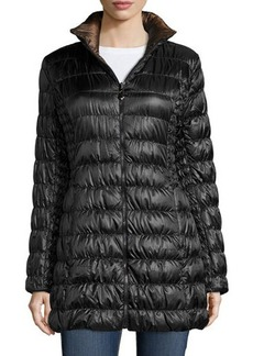 Laundry by Shelli Segal Packable Reversible Down Puffer Coat