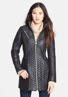 Laundry by Shelli Segal Packable Zigzag Quilted Jacket (Regular & Petite)