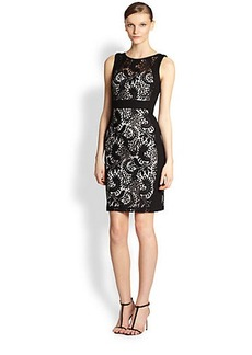 Laundry by Shelli Segal Paneled Lace Dress